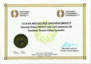 ccsan ticaret odası sertifikası